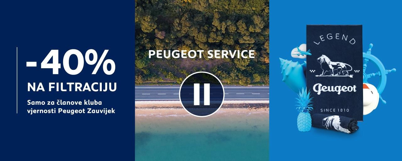 Peugeot popust na filtraciju