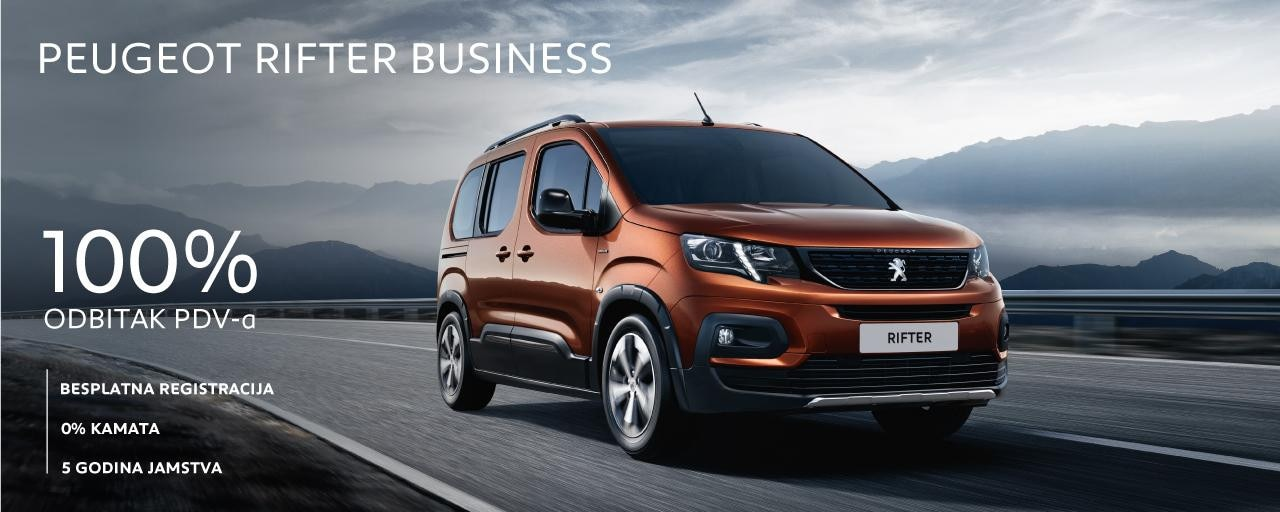 Posebna ponuda Peugeot Rifter Business
